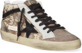 Golden Goose Mid Star Snake-Print Sneakers