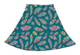 Urban Smalls Blue & Purple Feather A-Line Skirt - Toddler & Girls