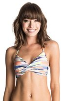 Roxy Women's Smooth Ikat Wrap Halter Bikini Top