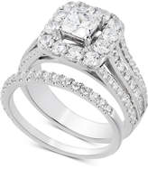 Macy's Diamond Princess Halo Bridal Set (2-1/2 ct. t.w.) in 14k White Gold