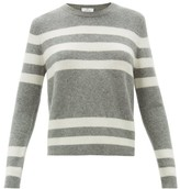 Allude Striped Cashmere-blend Sweater - Womens - Grey Multi