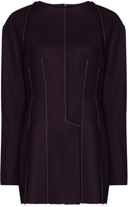 Richard Malone Exposed-Seam Wool Blouse