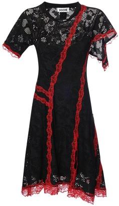 Koché Sheer Lace Mini Dress