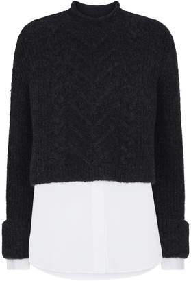 AllSaints Kalk Cropped Sweater