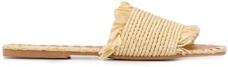 Manebi Straw Slip-On Sandals