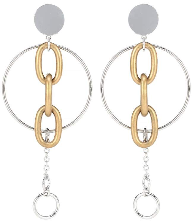 Miu Miu Clip-on drop hoop earrings