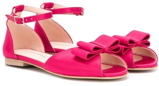 The Marc Jacobs Kids TEEN ribbon-detail sandals