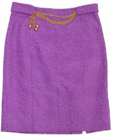 Milly Orchid Jacquard Cotton Skirt