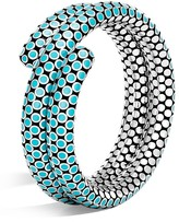 John Hardy Sterling Silver Dot Double Coil Bracelet in Turquoise