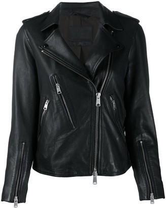 AllSaints Elva fitted biker jacket