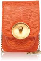 Marni Micro Lizard Saddle Lock Shoulder Bag