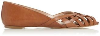 Dune London Harrel Cutwork Peep Toe Ballet Pumps
