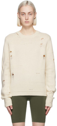 Helmut Lang Off-White Distressed Sweater