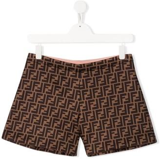 Fendi TEEN FF pattern shorts