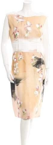 Dolce & Gabbana Hand-Painted Silk Dress