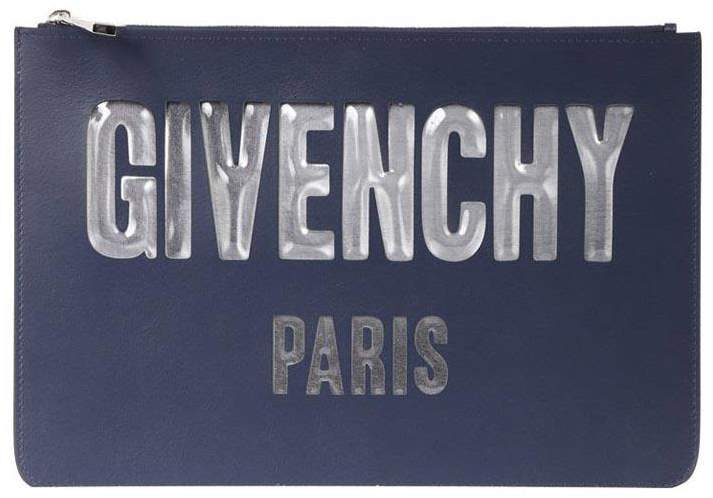 Givenchy Logoed Leather Large Clutch