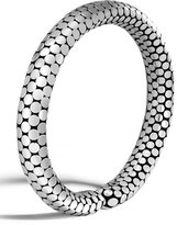 John Hardy Dot Silver Slim Flex Cuff Bracelet, Size Medium