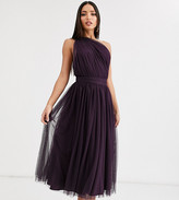 Asos Tall DESIGN Tall one shoulder tulle midi dress