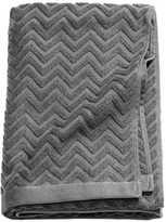 H&M Jacquard-patterned Bath Towel - Dark gray