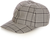 A.P.C. Louis Prince of Wales-checked cap