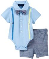 Andy & Evan Polo Shirtzie & Woven Short Set (Baby Boys)