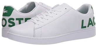 Lacoste Carnaby Evo 120 7 US (White/Green) Men's Shoes