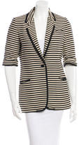 Elizabeth and James Striped Short Sleeve Blazer