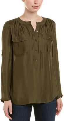Trina Turk 3/4-Sleeve Silk-Blend Top