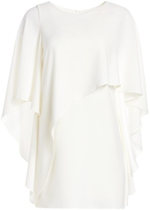 Halston Flowy Sleeve Boatneck Shift Dress