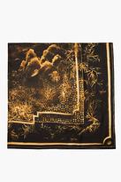 Balmain Gold framed print scarf