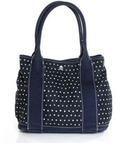 J.Crew Multi Colored Canvas Two Strap Polka Dot Print Shoulder Handbag