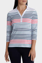 Regatta Stripe Rib 3/4 Sleeve Polo