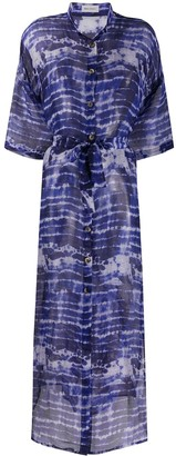 Beau Souci Tie-Dye Sheer Maxi Dress