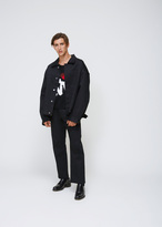 Raf Simons Black Denim Short Coat