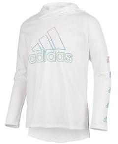 adidas Big Girls Long Sleeve Hooded T-shirt