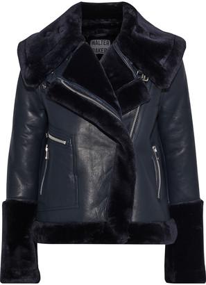 Walter Baker Edaurdo Leather And Faux Fur Coat