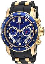 Invicta Men's 'Pro Diver' Quartz Stainless Steel and Silicone Watch, Color:Black (Model: 21929)