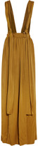 Lanvin Washed-satin Maxi Skirt - Saffron