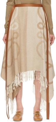 Loewe Beige Anagram Blanket Skirt