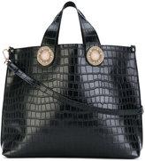 Versace croc-effect shoulder bag