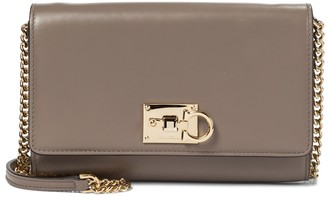 Salvatore Ferragamo Studio leather clutch