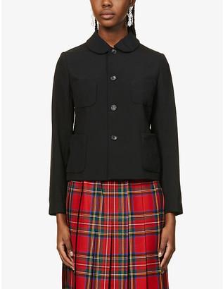COMME DES GARÇONS GIRL Peter Pan-collar wool jacket