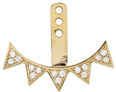 Sydney Evan Five Diamond Triangle Earring Jacket