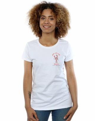 Absolute Cult Friends Women's Lobster Chest T-Shirt White Small