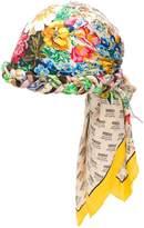 Gucci invite and floral print turban
