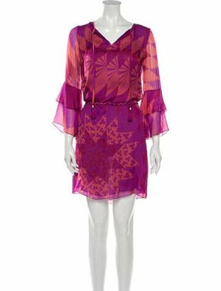 Matthew Williamson Silk Mini Dress w/ Tags Purple