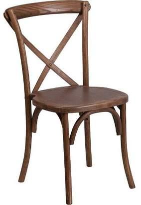 Riverstone Furniture Hercules Series Stackable Wood Cross Back Chair - Riverstone Furniture Collection