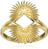 Noir Palm Leaves Ring, Size 7