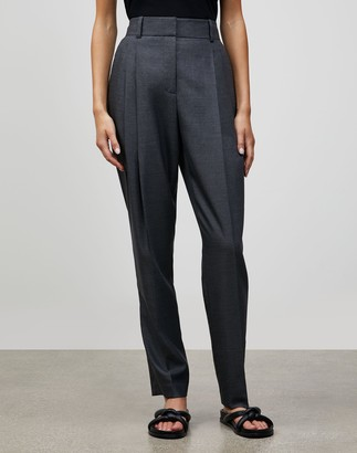 Lafayette 148 New York Plus-Size Italian Wool-Silk Suiting Ellis Pleated Pant