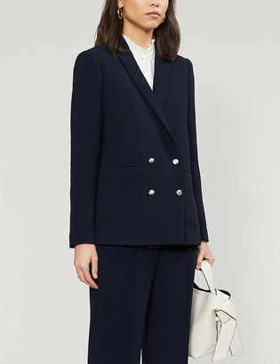 Claudie Pierlot Verlaine double-breasted crepe blazer